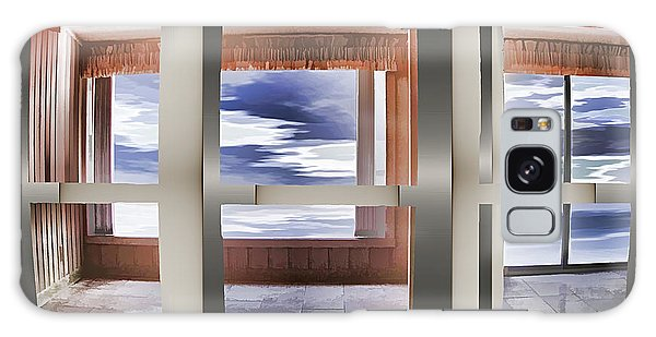 Galaxy Case featuring the digital art Breathing Space - Silver, Optimized For Metallic Paper by Wendy J St Christopher