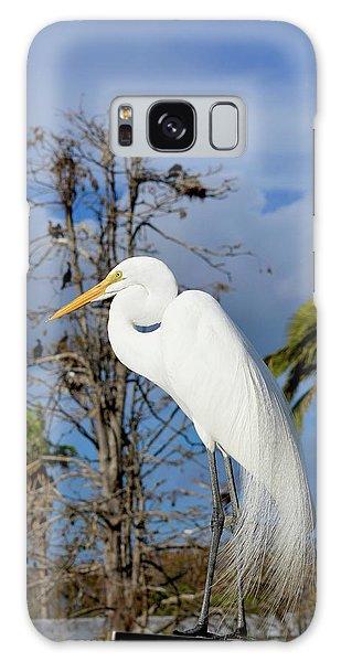 Breezy Egret Galaxy Case by Josy Cue