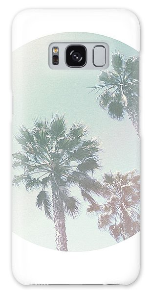 Santa Monica Galaxy S8 Case - Breezy Palm Trees- Art By Linda Woods by Linda Woods