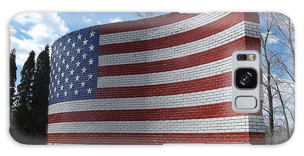 Brick American Flag Galaxy Case