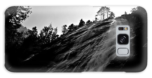 Bridal Veil Falls In Black And White Galaxy Case