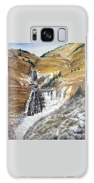 Bridal Veil Falls In Winter Galaxy Case by Sherril Porter