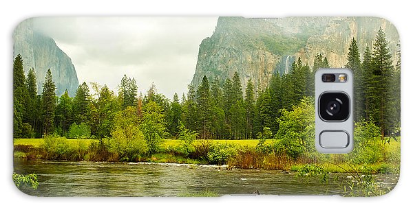 Bridal Veil Falls In Yosemite National Park Galaxy Case by MaryJane Armstrong