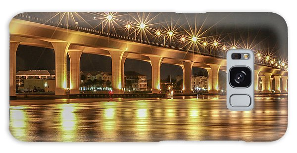 Bridge And Golden Water Galaxy Case
