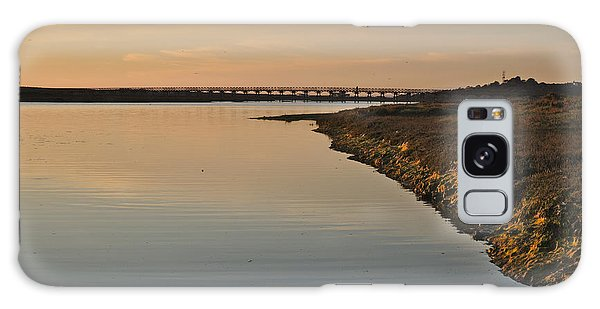 Bridge And Ria At Sunset In Quinta Do Lago Galaxy Case