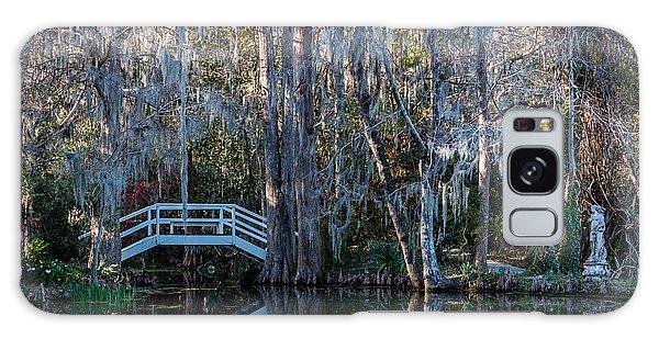 Bridge And Statue At Magnolia Plantation Gardens Galaxy Case