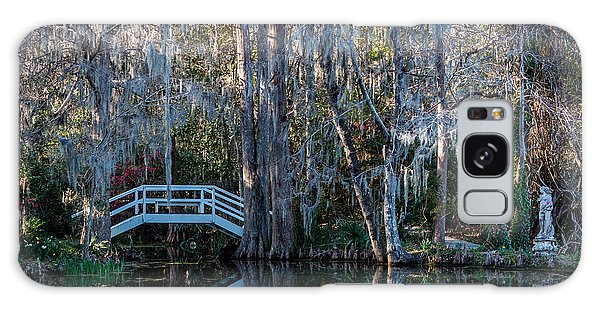 Bridge And Statue At Magnolia Plantation Gardens Galaxy Case