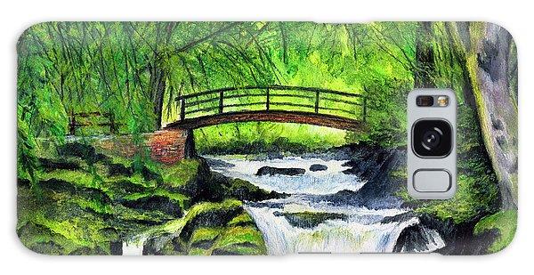 Waterfall Galaxy Case - Bridge And Waterfall by Dale Jackson
