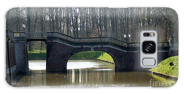 Bridge At Castle Nordkirchen Galaxy Case