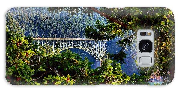 Bridge At Deception Pass Galaxy Case