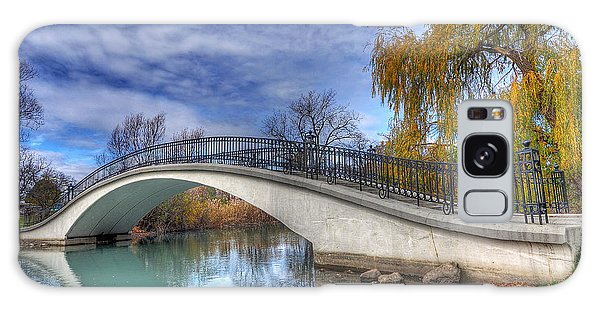 Bridge At Elizabeth Park Galaxy Case by Rodney Campbell