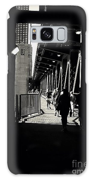 Bridge - Lower Lake Shore Drive At Navy Pier Chicago. Galaxy Case