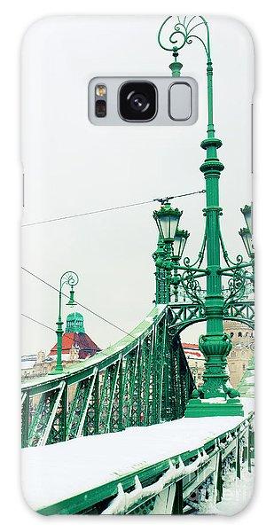 Bridge Of Liberty In Budapest Galaxy Case by Anastasy Yarmolovich