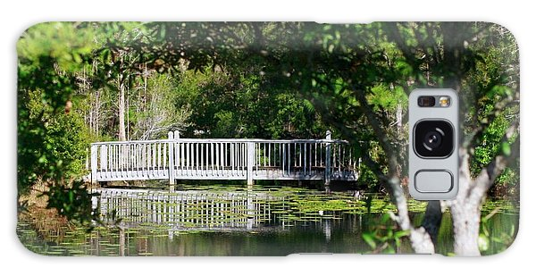 Bridge On Lilly Pond Galaxy Case