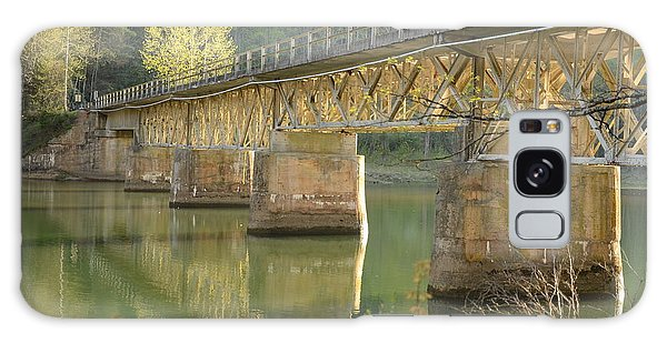 Bridge Over Calm Water Galaxy Case
