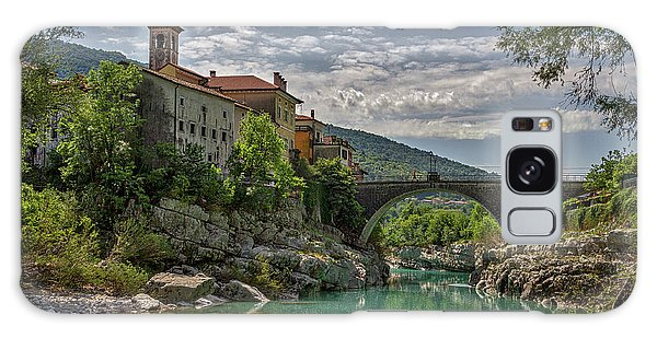 Galaxy Case featuring the photograph Bridge Over The Soca - Kanal Slovenia by Stuart Litoff