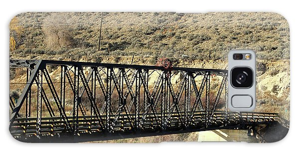 Galaxy Case featuring the photograph Bridge Over The Thompson by Ann E Robson