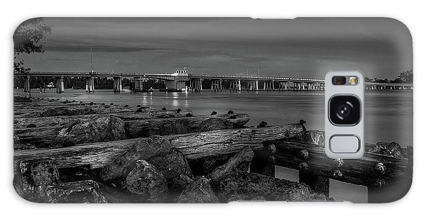 Bridge To Longboat Key In Bw Galaxy Case
