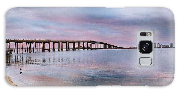 Bridge Under The Sunset Galaxy Case