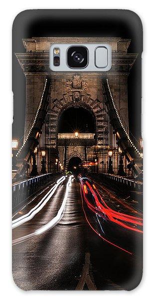 Bridges Of Budapest - Chain Bridge Galaxy Case by Jaroslaw Blaminsky
