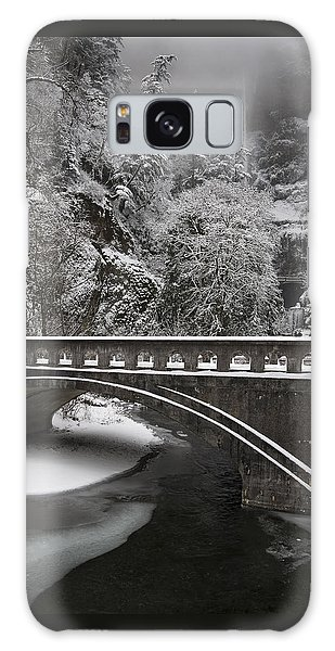 Bridges Of Multnomah Falls Galaxy Case by Wes and Dotty Weber