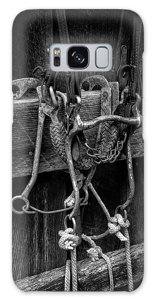 Bridle And Barn In Black And White Galaxy Case