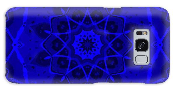 Galaxy Case featuring the digital art Brigadoon No. 1 Neon Blue by Joy McKenzie