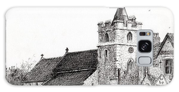 Pen And Ink Drawing Galaxy Case - Brighstone Church by Vincent Alexander Booth