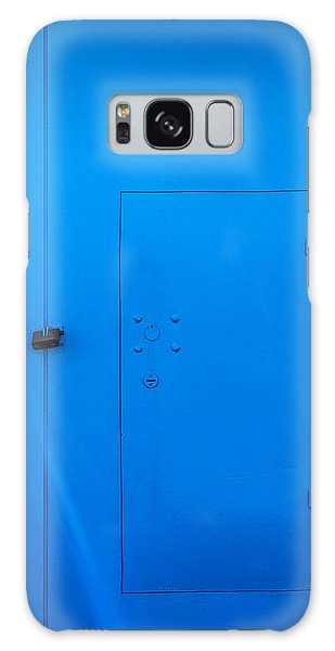 Bright Blue Locked Door And Padlock Galaxy Case