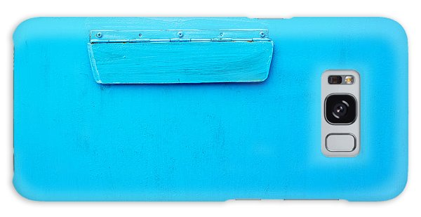Bright Blue Paint On Metal With Postbox Galaxy Case by John Williams