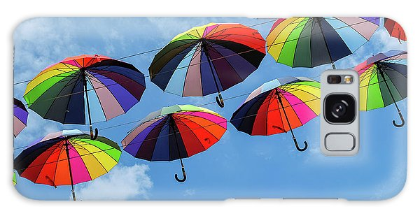 Bright Colorful Umbrellas  Galaxy Case