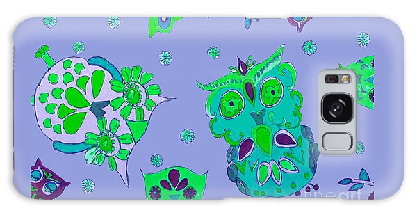 Bright Eyed Owls Galaxy Case