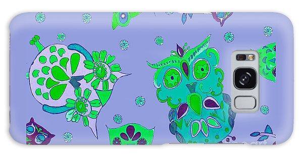 Bright Eyed Owls Galaxy Case by Beth Saffer