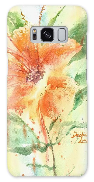 Bright Orange Flower Galaxy Case