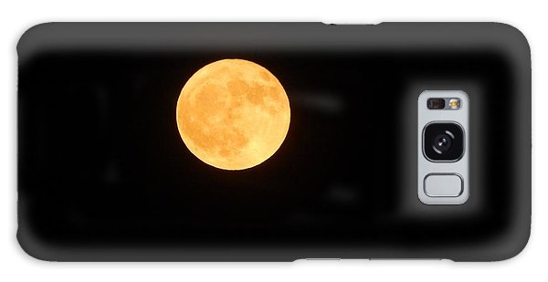 Bright Orange Moon Galaxy Case