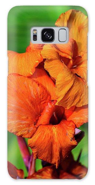 Bright Orange  Galaxy Case