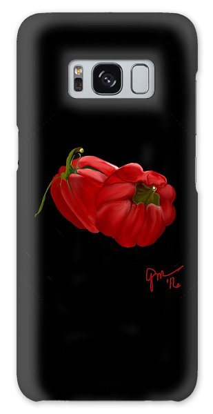 Bright Red Peppers Galaxy Case