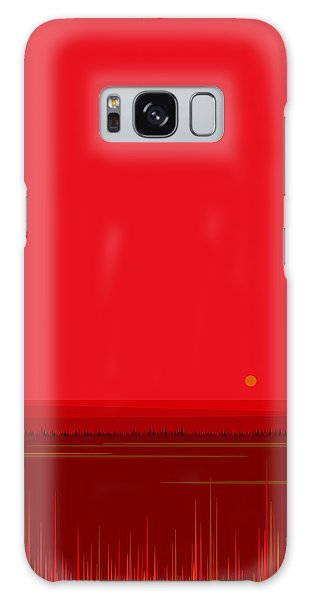 Bright Red Sunset Landscape Galaxy Case