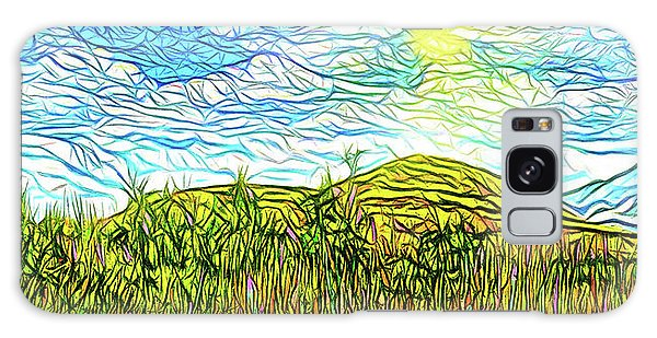 Bright Sky Summer - Field In Boulder County Colorado Galaxy Case