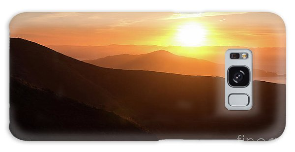 Bright Sun Rising Over The Mountains Galaxy Case