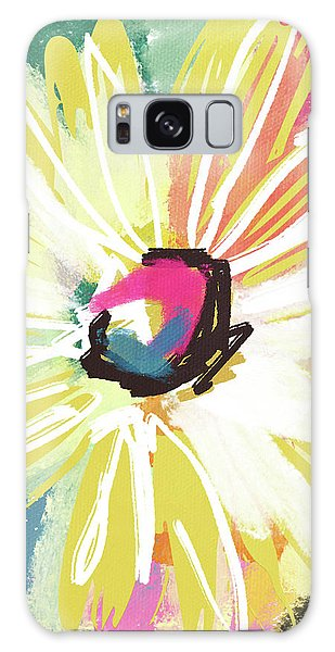 Bright Yellow Flower- Art By Linda Woods Galaxy Case by Linda Woods
