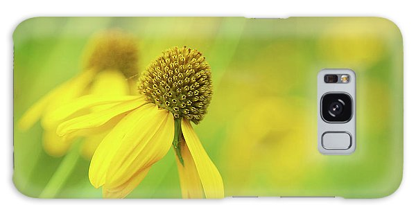 Bright Yellow Flower Galaxy Case