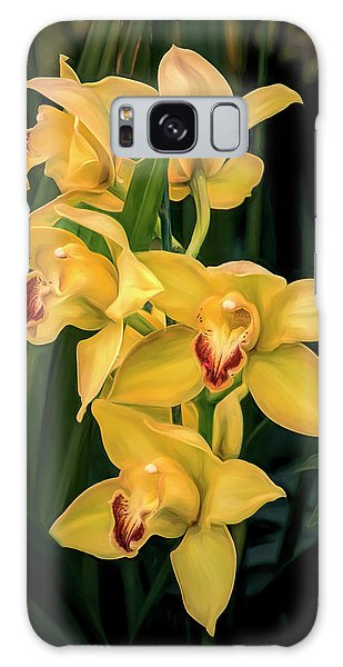 Orchidaceae Galaxy Case - Bright Yellow Orchids by Tom Mc Nemar