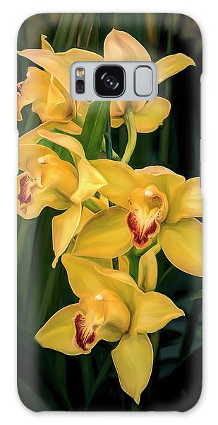Orchid Galaxy Case - Bright Yellow Orchids by Tom Mc Nemar