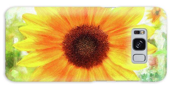 Bright Yellow Sunflower - Painted Summer Sunshine Galaxy Case