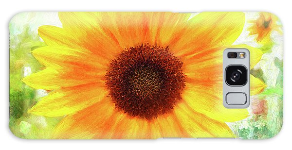 Bright Yellow Sunflower - Painted Summer Sunshine Galaxy Case