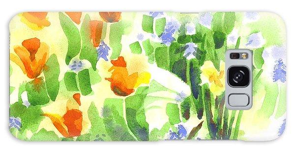 Brightly April Flowers Galaxy Case by Kip DeVore