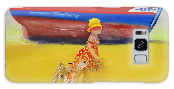 Brightly Painted Wooden Boats With Terrier And Friend Galaxy Case