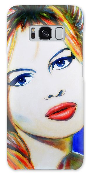 Brigitte Bardot Pop Art Portrait Galaxy Case