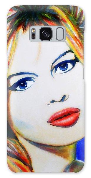 Brigitte Bardot Pop Art Portrait Galaxy Case